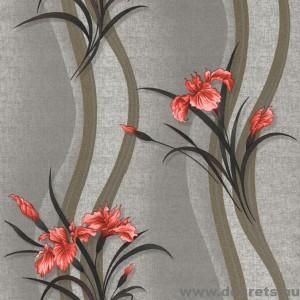 Tapéta simplex Iris szürke-piros
