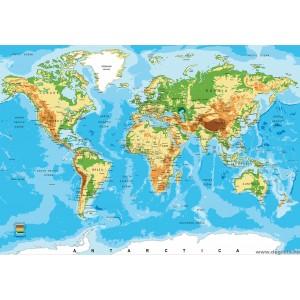 Fotótapéta Világtérkép 3