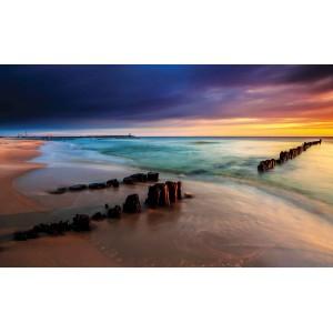 Fotótapéta Napfelkelte a tengeren