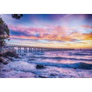 Fotótapéta Napnyugta a tenger felett  L
