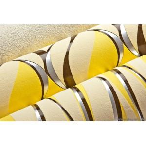 Tapéta vinyl Hullámok 2 3D sárga