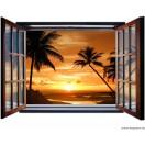 Fotótapéta Napnyugta Balin 3D ablak  Vlies