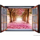 Fotótapéta Virágoskert 3D ablak  Vlies