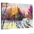 Vászonkép Tél  - erdő tájkép  L