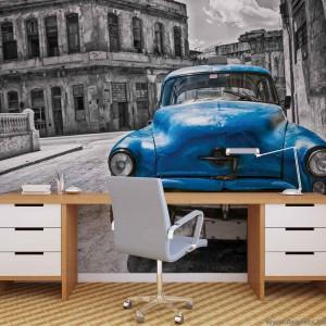 Fotótapéta Vintázs  autó kék