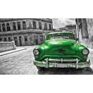 Fotótapéta Vintázs  autó zöld