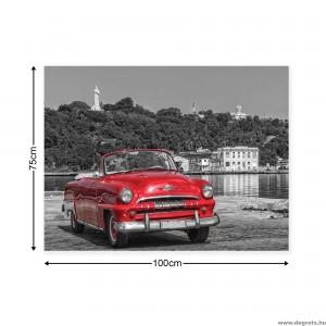 Vászonkép Retro autó - piros 1