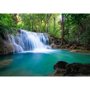 Fotótapéta erdő vízesés XL