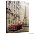 Vászonkép Párizs  - retro autó