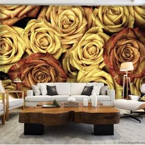 Fotótapéta Vintázs  rózsák 3D XL