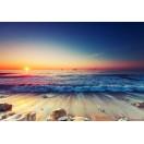 Fotótapéta Napnyugta a tengernél  2