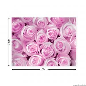 Vászonkép Egy csokor rózsaszín rózsa