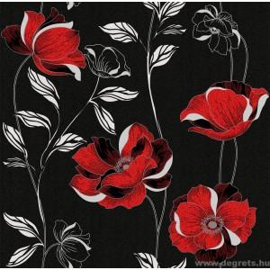 Tapéta simplex Essays fekete-piros
