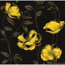 Tapéta simplex Essays fekete-sárga