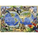 Fotótapéta Világtérkép - Állatok 1