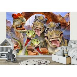 Fotótapéta Dinoszauruszok - Sefie 1 3D