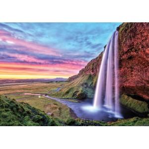 Fotótapéta Napnyugta a vízesés mellett L