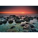 Fotótapéta Napnyugta a tengernél  1