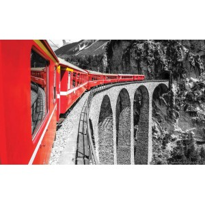 Fotótapéta Vonat a hegyekben