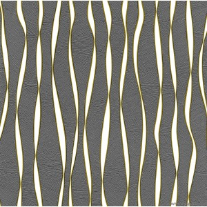 Tapéta simplex Accent fekete-arany