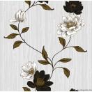 Tapéta simplex Estel fehér-fekete