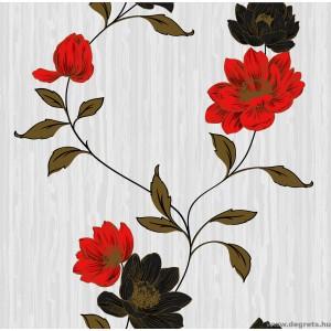 Tapéta simplex Estel fehér-piros