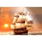 Fotótapéta fehér hajó