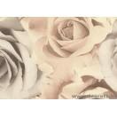 Tapéta PVC rózsák bézs