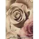 Tapéta PVC rózsák sötét bézs