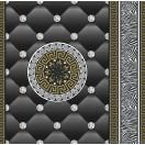 Tapéta simplex Eileen 3D fekete-arany