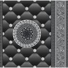 Tapéta simplex Eileen 3D fekete-ezüst