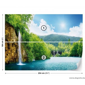 Fotótapéta Vízesés a tónál  L 1