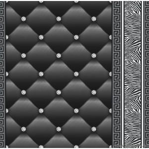 Tapéta simplex Eileen 3D 2 fekete-ezüst