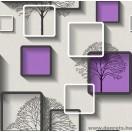 Tapéta simplex Nelmi 3D lila