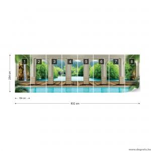 Fotótapéta Csodálatos vízesés 3D panoráma  Vlies