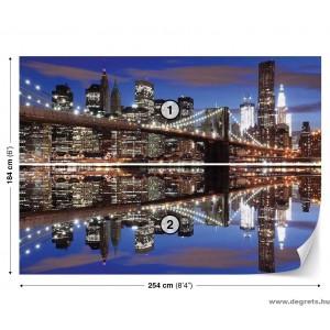 Fotótapéta Brooklyn Híd éjszaka L