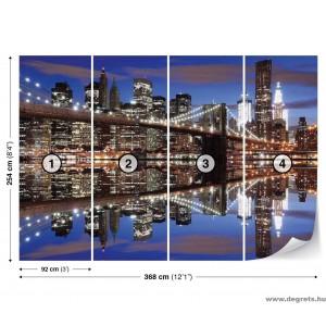 Fotótapéta Brooklyn Híd éjszaka XL