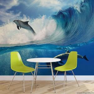 Fotótapéta Delfinek a tengerben
