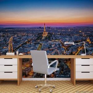 Fotótapéta Napnyugta Párizs felett
