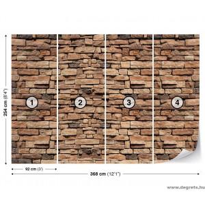 Fotótapéta Kőfal 3 3D XL