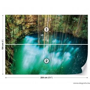 Fotótapéta kék szakadék