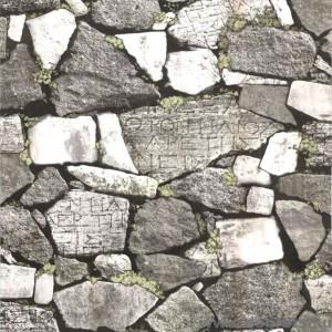 Tapéta vízálló Kő zid 3D szürke