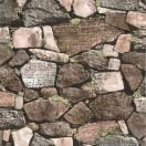 Tapéta vízálló Kő zid 3D barna