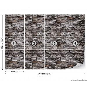 Fotótapéta Fal  kő 1 3D XL
