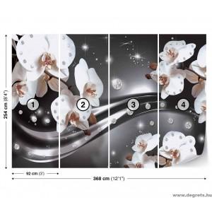 Fotótapéta absztrakció orchideák 3 3D XL