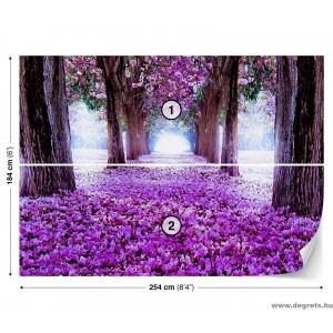 Fotótapéta Lila virágút 3D L 1