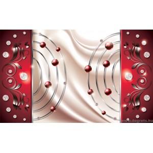 Fotótapéta absztrakció piros gyémánt 3D