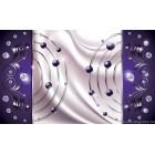 Fotótapéta absztrakció lila gyémánt 3D