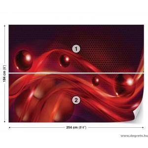 Fotótapéta piros absztrakció 3D