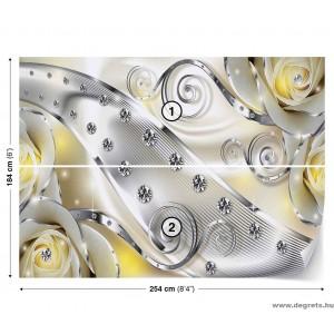 Fotótapéta sárga virágos gyémánt 3D L